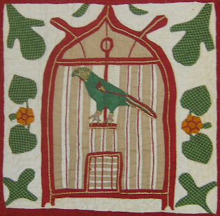 [Bird detail of Reconciliation Quilt]