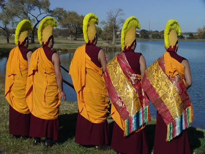 [Tibetan monks at Oak lake Park]