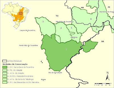 [Cerrado region map]