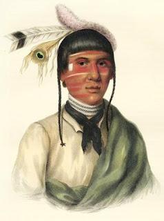 [No Tin, Chippewa Chief, 1844; Indians of North America]