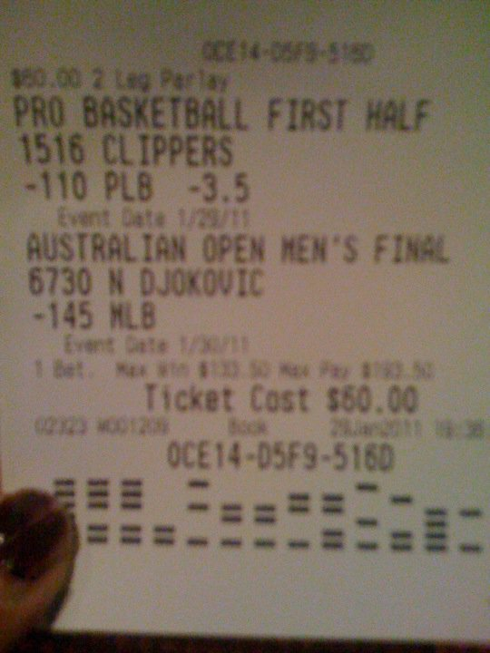 vegas odds on 3 team parlay one push man