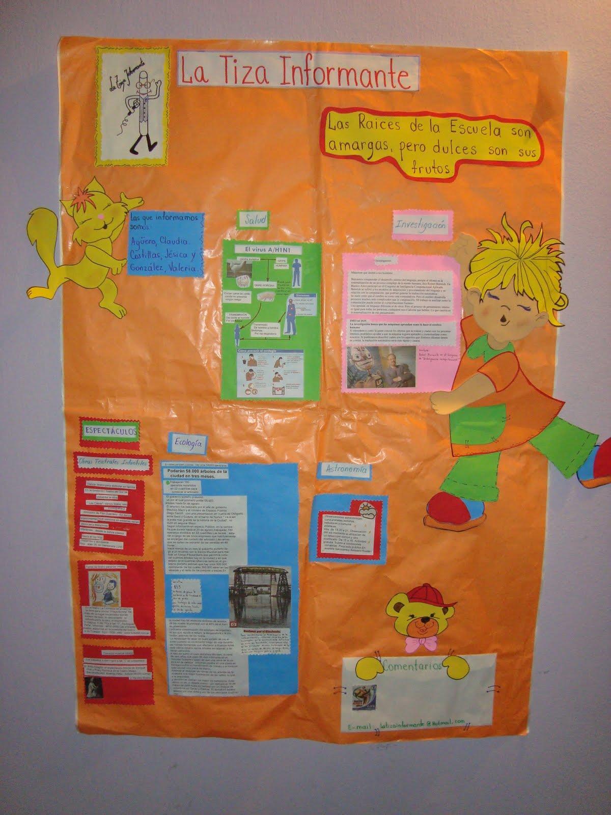Medios audiovisuales tic 39 s y educacion el periodico mural for El periodico mural y sus secciones
