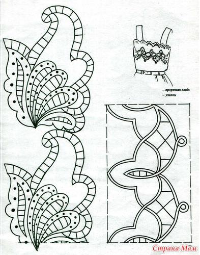 Вышивка ришелье своими руками схемы