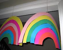 make hanging rainbow decorations