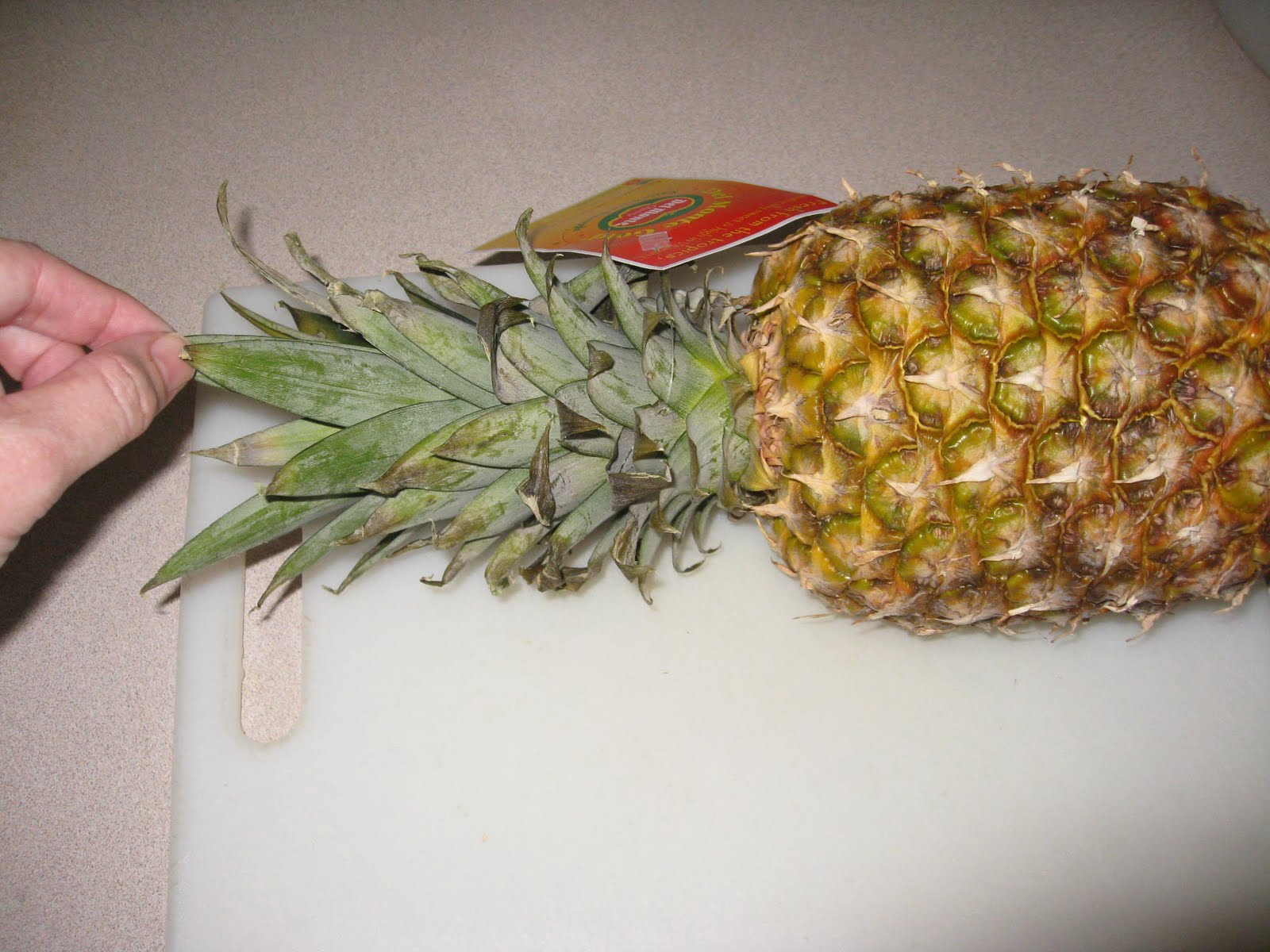 how to cut the inside of a pineapple