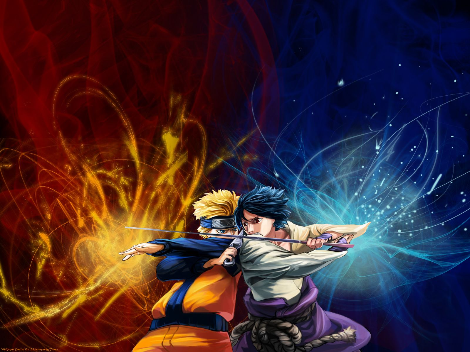 Naruto vs Sasuke Wallpapers Desktop