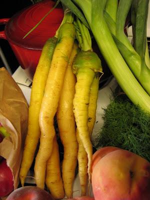 CSA Week 10 Carrots. August, 2008. photo Jenonymous/Group News Blog.
