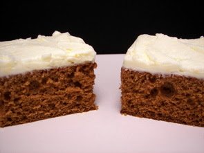 Gingerbread Bars with Orange Frosting