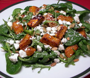 Maple Roasted Pumpkin Salad