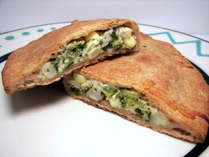 Corn and Broccoli Calzone Picture
