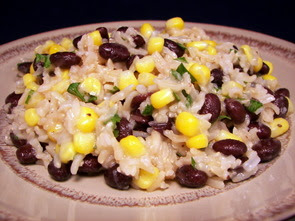 Black Bean, Rice, and Sweet Corn Salad