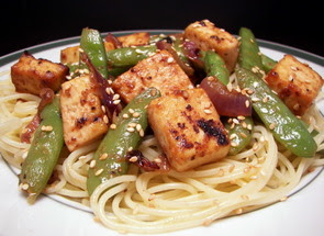 Sesame-Maple Roasted Tofu