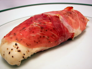 Rolled Chicken Breasts Stuffed with Prosciutto and Barley