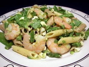 Penne with Shrimp, Feta, and Spring Vegetables (Adapted from Everyday ...