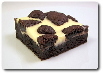 Black-and-White Cheesecake Squares (Adapted from Martha Stewart)