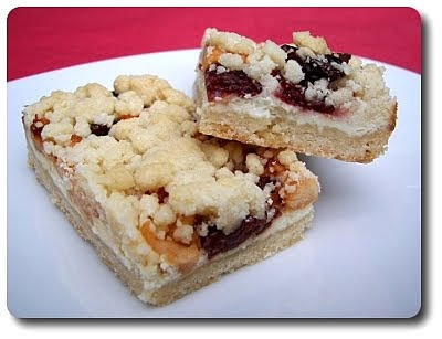 Cream Cheese Apple-Cherry Streusel Bars