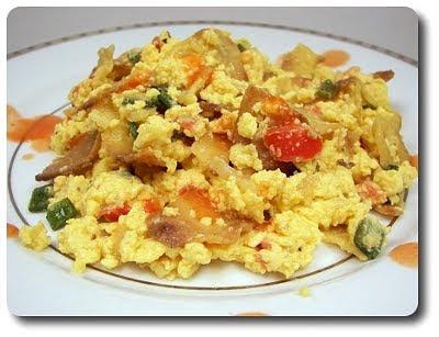 Culinary in the Desert: Corn-Tortilla and Egg Scramble...