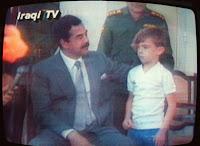 Saddam Hussein's human-shield child hostage