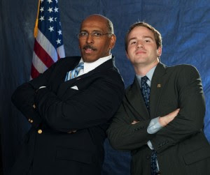 In this photo: Michael Steele strikes his best 
