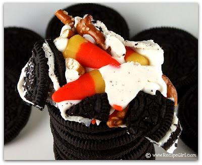 Candy Corn Oreo Cookie Bark Recipes — Dishmaps