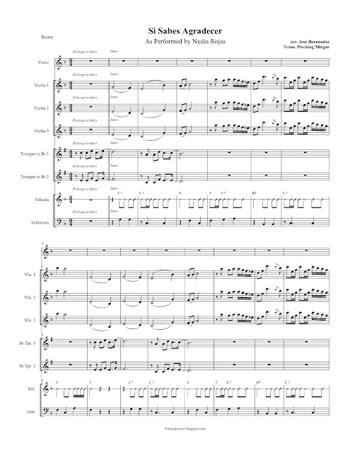 Mariachi Composition, and Transcribing Project