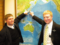 Elder Nelson and his MTC companion, Elder Eckman