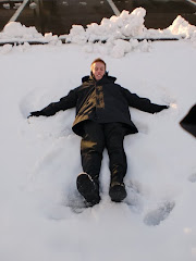 Elder Larsen's snow angel