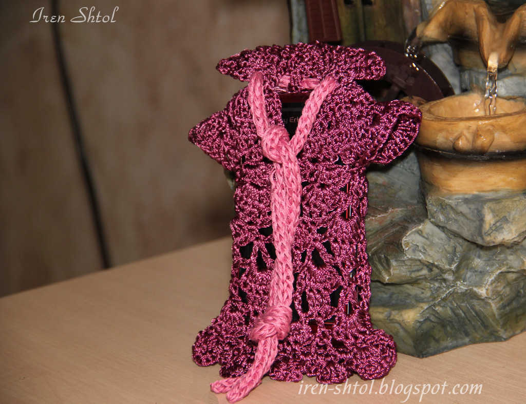 Схема вязания чехлов для телефона крючком