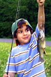 Elisha's first catch