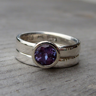 alexandrite wedding ring