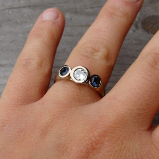 moissanite sapphire ring