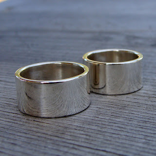 wide silver bands