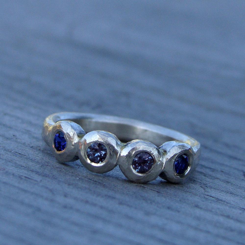 Alexandrite Wedding Ring With Insert