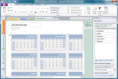 Office 2010 Office 2010 Calendar Templates