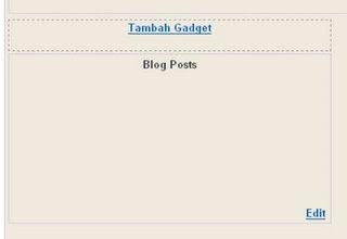 menambah gadget atau elemen halaman di blogger