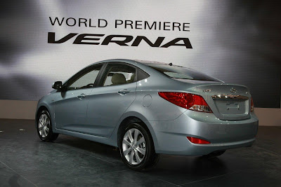 2011 Hyundai Verna-Accent Rear Side View