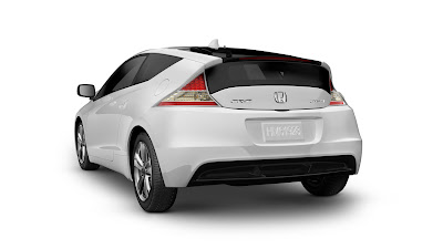 2011 Honda CR-Z Sport Hybrid Coupe Rear Angle View
