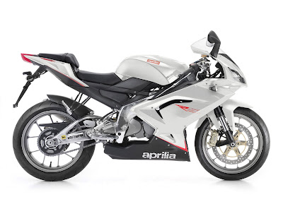 2010 Aprilia RS125 White Color