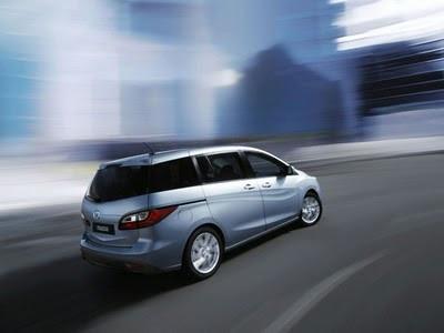 Mazda5 Rear Angle View