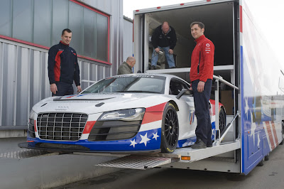 2010 Audi R8 LMS Evolution Showing