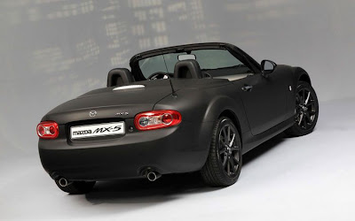 Mazda MX5 Matte Black Special Edition Rear View