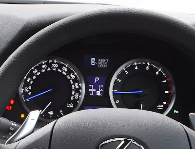 2011 Lexus IS F Gauges
