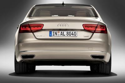 2011 Audi A8 L Rear View