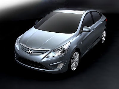 2011 Hyundai Verna-Accent Front Top Side View