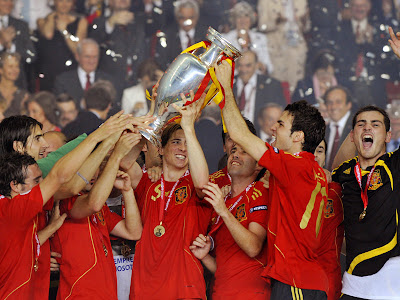 Spain Football Team Celebration