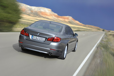 2011 BMW 5-Series Rear View