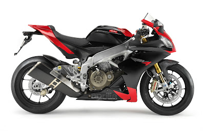2010 Aprilia RSV4 Factory Black Red Color