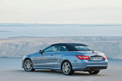 2011 Mercedes-Benz E-Class Cabriolet Rear Side View
