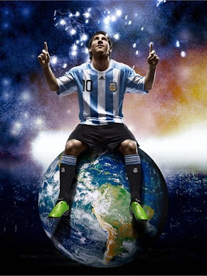 Lionel Messi Argentina World Cup 2010 Top Soccer Player