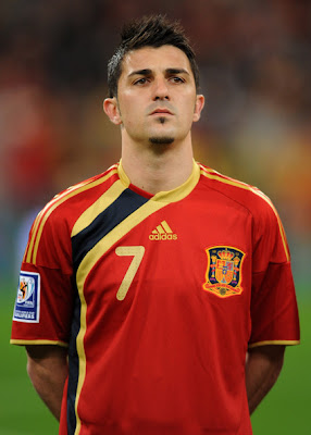 David Villa World Cup 2010 Football Picture